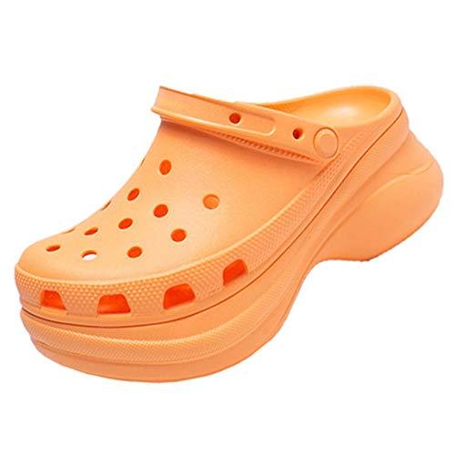 XYJP Zapatillas De Mujer De Suela Gruesa, Zapatillas De Mujer Cómodas De Moda, Zapatillas De Estilo, Zapatillas De Mujer De Suela Gruesa De Madera, Cómodas De Moda