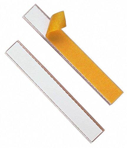 Durable 802019 Beschriftungsfenster Labelfix (selbstklebend, für Etiketten 200 x 20 mm) Packung à 10 Stück transparent