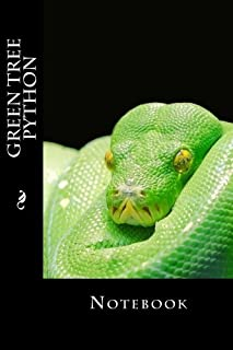Green Tree Python: Notebook, 150 lined pages, softcover, 6