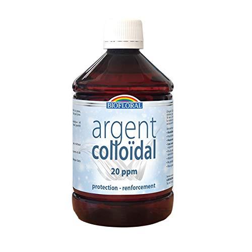 Biofloral Argent Colloïdal Complément Alimentaire pour Yeux Flacon de 500 ml - Lot de 3