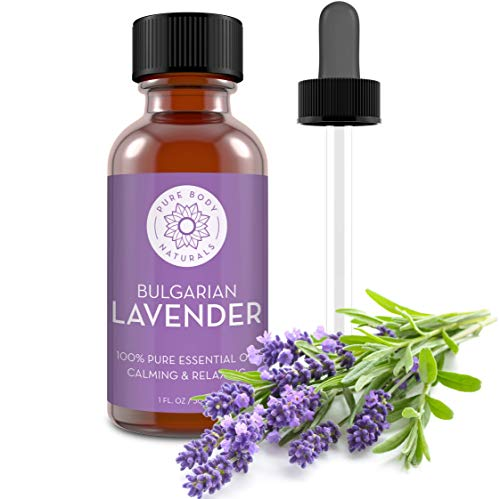 Bulgarian Lavender Essential Oil by Pure Body Naturals, 1 Fluid Ounce - 100% Pure, Independently Tested, Therapeutic Grade Lavender Essential Oil for Diffuser Aromatherapy