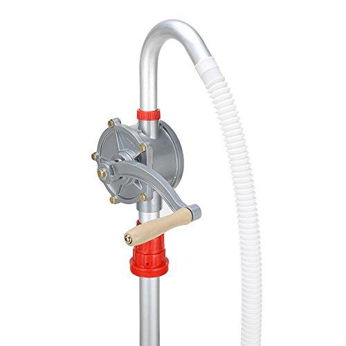 Kurbelpumpe, Heizöl Diesel Fasspumpe, Aluminiumlegierung, 29L / min Handkurbel Ölfass Fasspumpe, für Benzin, Dieselöl, Schmieröl