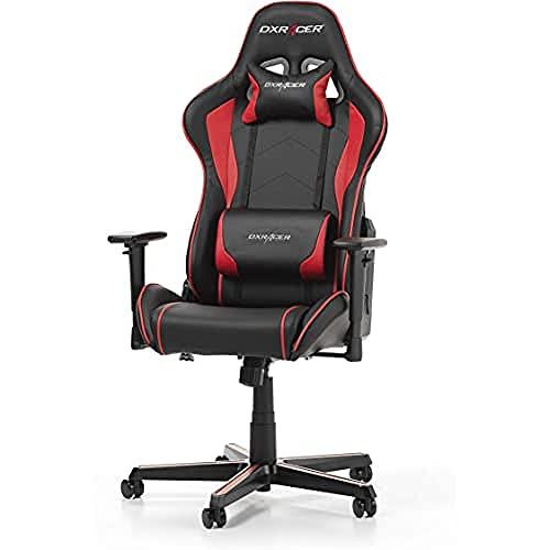 DXRacer Formula F08 Gaming Chair, Black/Red, Piel sintética, Negro/Rojo, 67 x 67 x 128 cm 🔥