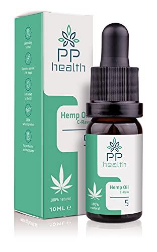 PP Health – Aceite Premium 500 mg C-Raw - Vivero ecológico suizo con una rigurosa selección de las mejores plantas maduras - 10 ml