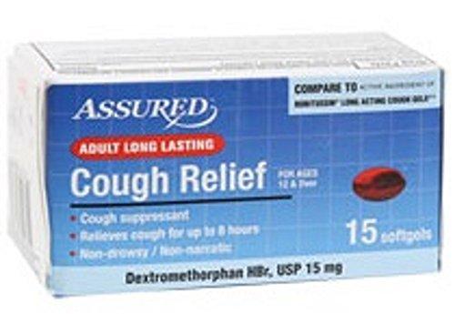 Assured Adult Long Lasting Cough Relief DXM HBr softgels 15mg Dextromethorphan