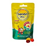 Supradyn Difese Junior - Integratore Multivitaminico Difese immunitarie - 25 Caramelle Gommose ai deliziosi gusti di Fragola, Arancia e Papaya