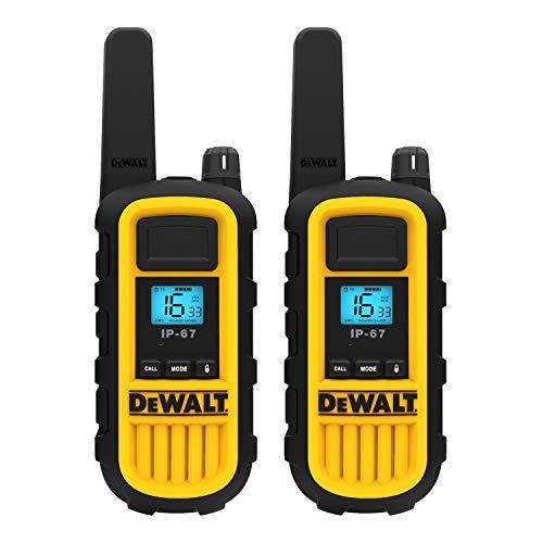 DeWalt DXPMR800 Heavy Duty Professional Walkie Talkie PMR Radio with Up to...