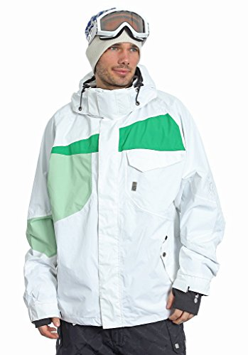 Light Herren Snowboard Jacke Elmo S Weiß/Grün (White/Kelly Green/Lime)