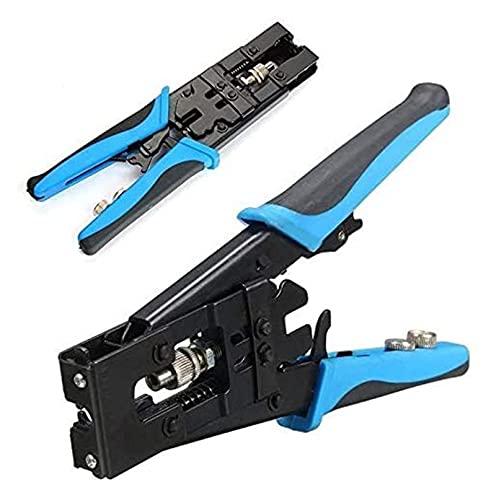 Herramienta de engarce Alicates de engarce 1PC Herramienta de arrugamiento de compresión de coaxial duradera Durable BNC / RCA / F Conector de engarce RG59 / 58/6 Cable de cable Cortador de alambre aj