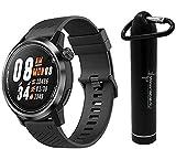 Coros APEX Premium Multisport Watch with Wearable4U Compact Power Bank Bundle (42mm, Black/Gray)