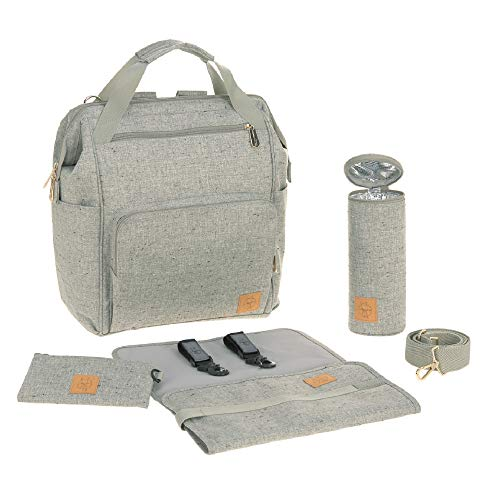 Lässig Baby Nappy Changing Backpack Diaper Backpack/Goldie, Bouclé Beige