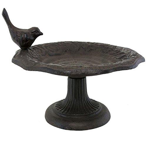 L'ORIGINALE DECO Grand Bain à Oiseaux Bain d'oiseaux de Jardin en Fonte ø22 cm