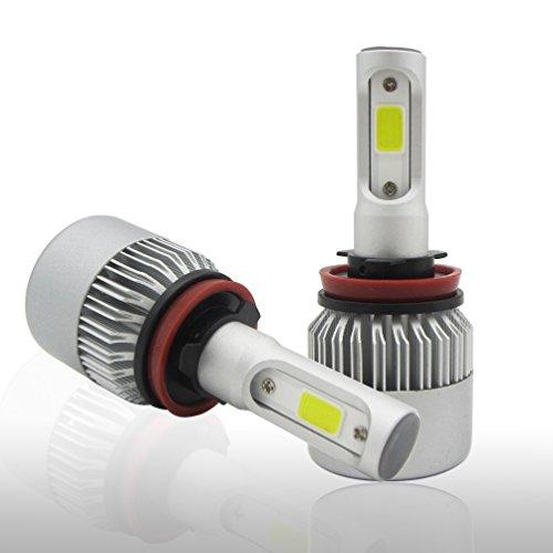 Ruanyi H11 H8 H9 Ampoules de phares à LED, puces COB 16000Lm Kit de conversion extrêmement lumineux 6500K