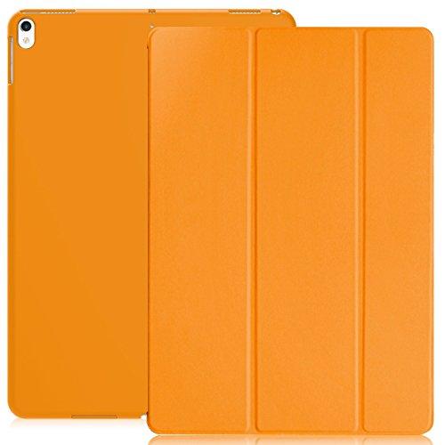 Khomo Superdünne Hülle Mit Gummierten Rückseite Und Smart-Funktion.Für Das.Apple iPad Pro 10,5.Dual Gold – Goldfarben Weiß Orange Apple iPad Pro 10.5
