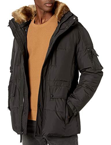 S13 Men's Voyager Down Parka Jacket, black, Large
