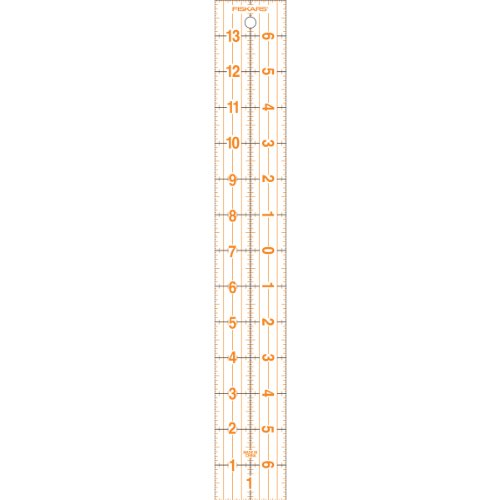 Fiskars 2x14 Inch Acrylic Centering Ruler (187220-1001)