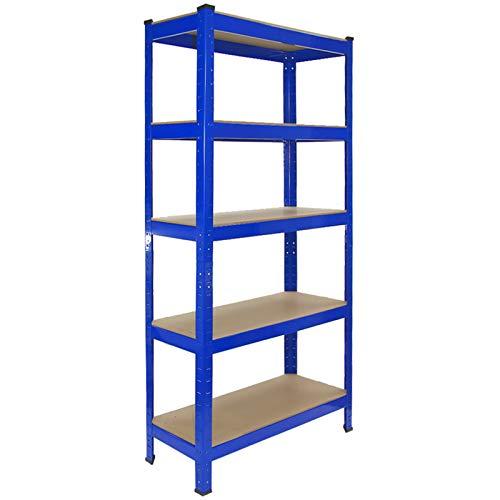 2 Estanterías T-Rax de Acero Sin Tornillos Azules 75cm x 30cm x 150cm