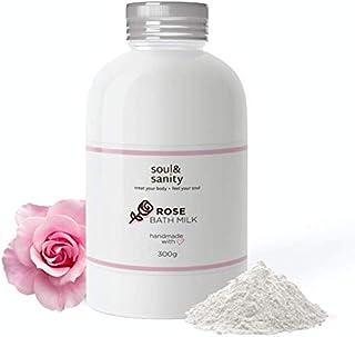 Bademilch mit Rose - revitalisierende Hautpflege | Badezusatz | Badepulver aus frischer Milch und wohlduftender Rose | frei von Tierversuchen | 300g Rose
