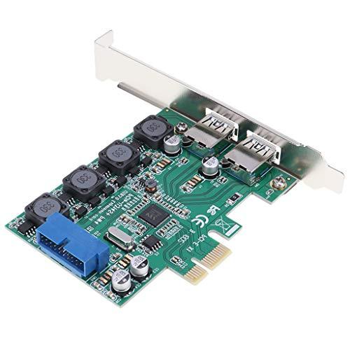B Blesiya Tarjeta de Extensión PCI-E a USB3.0 de Escritorio Tarjeta de Extensión Frontal de 20 Pines