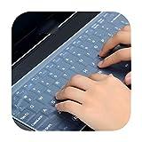 TOIT - Protector de pantalla para teclado portátil impermeable, 15 fundas de teclado para ordenador portátil 15.6 17 14 15 inch to 17 inch size