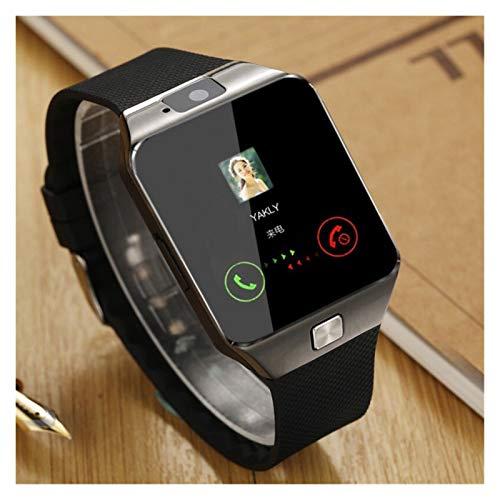 Smart Watch DZ09 con Cámara Bluetooth Wristwatch Relogio Sim Tarjeta Smartwatch para Xiaomi iPhone Samsung Hombres Mujeres (Color : Black)