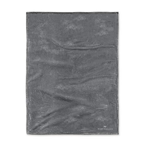 TOM TAILOR 0237798 Wohndecke Microfaser  1x 150x200 cm, anthrazit