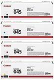 Canon 045 Original Toner Set (Cyan, Magenta, Yellow, Black) in 1 pack in retail packaging