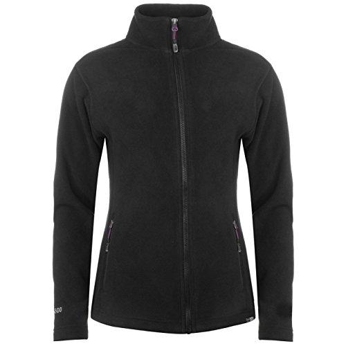 Karrimor Damen Fleece Jacke Langarm Zip ?bergangs Fleecejacke Pullover Schwarz 18 (XXL)