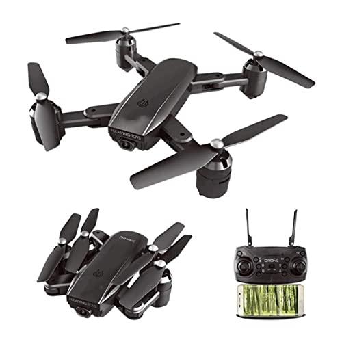 JeeKoudy Pieghevole Drone RC con Fotocamera 1080P HD FPV Posizionamento del Flusso Ottico Flusso Dron Selfie Elicottero Quadcopter Altitudine Hold, modalità Senza Testa, Flip 3D,Un Tasto Indietro