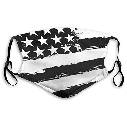 Gezichtsmaskers zwart USA vlag sportmasker stofbescherming glimlachende maskers wasbaar herbruikbaar mondmasker