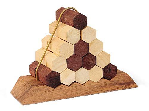 Logica Juegos Art. Nido de Abejas - Rompecabezas de Madera Preciosa - Dificultad 5/6 Increible - Colección Leonardo da Vinci