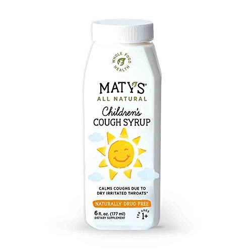 Maty's All Natural Children's Cough Syrup 6 fl oz Soothes Throats, Boosts Immunity