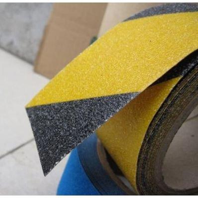 StickersLab plakfolie voor terrassen, zelfklevend, 50 mm, geel/zwart Larghezza - 50mm x 18,3MT