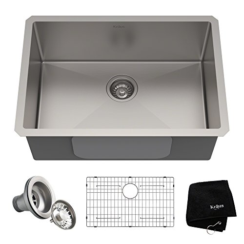 Kraus Standart Pro 30-inch 16 Gauge Undermount Single Bowl Stainless Steel Kitchen Sink