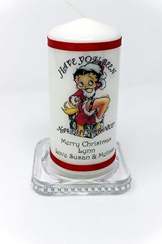 Betty Boop Bougie de noël personnalisable Cadeau et carte calendrier de l'Avent idéal pour les fans de Betty Boop