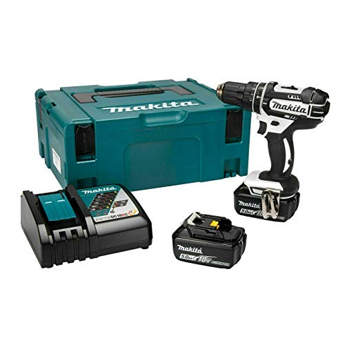 Makita DHP482RTWJ 18V Li-ion LXT Combi Drill with 2 x 5Ah Batteries & Charger, 18 V