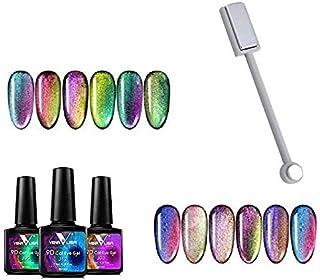 12 colores 9D Cat Eyes Gel magnético polaco + imán Stick Nail Art Design Soak Off Enamel UV Gel Lacquer Barnish