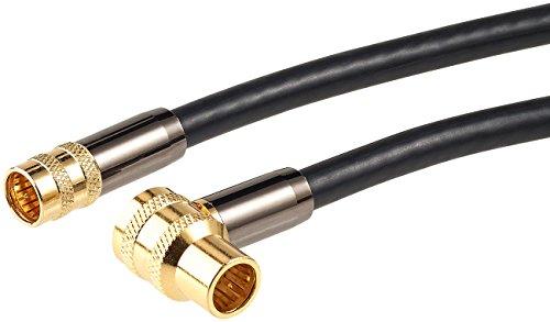 auvisio Sat Zubehör: HDTV-Sat-Antennenkabel (F-Winkelstecker), 5 m, 105 dB, 4X-Abschirmung (Antennenkabel für Sat-Anlage)