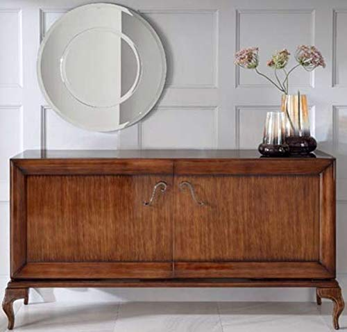Casa Padrino cómoda neoclásica 2 Puertas marrón 187 x 52 x A. 95 cm - Aparador de Madera Maciza - Muebles de Salón Art Deco
