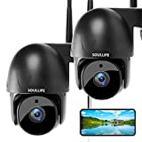 SoulLife Security Camera Outdoor, 1080P HD Home Surveillance WiFi IP Camera Pan/Tilt Waterproof with Night Vision 2-Way Audio Motion Detection Activity Alert(2 Pack)