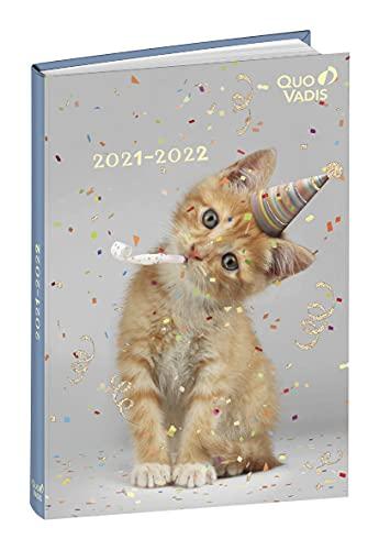 Quo Vadis – 1 Eurotextagenda – Diario escolar de agosto de 2020 a julio de 2021 – Colección Potes – Gato – 12 x 17 cm