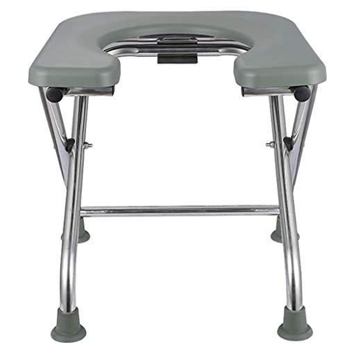 G-LXYZBQSHYP toiletstoel camping, draagbare lichte douchestoel voor toiletten, inklapbare toiletstoel, hulpmiddel voor ouderen met handicap in de badkamer