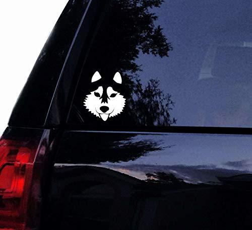 Brand Free Calcomanía para coche de 25 cm de Husky siberiano lindo perro calcomanía de perro Husky mamá PVC calcomanía para el ordenador portátil ventana del coche adhesivo de pared