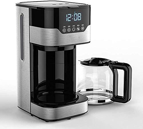 YINGGEXU Máquina de café para cafetera, 1,8 L, de gran capacidad, de aislamiento automático, cafetera de goteo, 2 H, preservación del calor, pantalla LED, compatible con oficina en casa