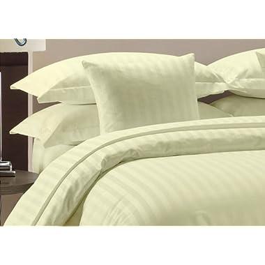 Amazon Luxurious Hotel Collection 800 Thread Count 6pc Sheet Set King Size 100% Egyptian Cotton Ivory Stripe