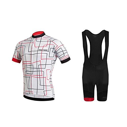 Uglyfrog Radtrikot Herren Fahrradbekleidung Set Outdoor Sports Kurzarm Radkleidung + Radfahren Latzhose Shorts im Sommer