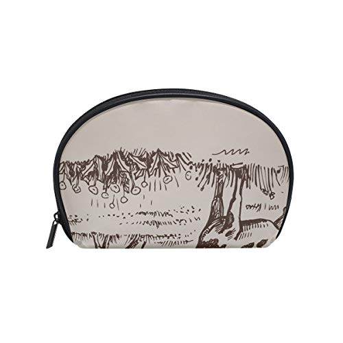 Shell Shape The Best Makeup Bag Hand Drawn Vintage Cow Field Throw Blanket Soft Wa Print Tolietry Travel Bag For Girls Mens Toiletry Bag Portable Travel Multifunction Storage Bag With Zipper For Women
