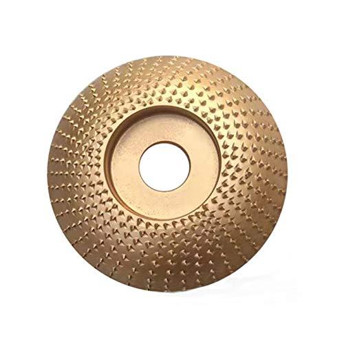 Disco de abrasivo para lijadora angular de madera,Disco para Tallar Madera y Lijar, Discos para Amoladoras Angulares de Carburo, se Puede Utilizar para Madera, Lijado, Tallado (Dorado