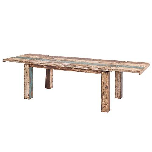 MÖBEL IDEAL Esstisch Vintage Stil Shabby Chic Massiv Esszimmertisch Tisch 180-280 x 90 Landhausstil Massivholz Holz Mango massiv