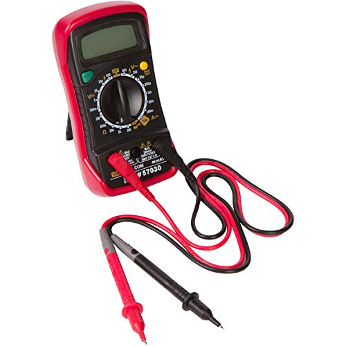 """Morris Products Digital Multimeter with Rubber Holster – For Measuring Electrical Values – Battery Power, Overload Protection – Back Lit – Blister Packed, cETLus Listed - 1.25"""" x 2.72"""" x 5.44"""""""